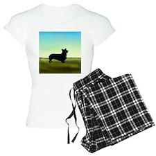 corgi in a field Pajamas