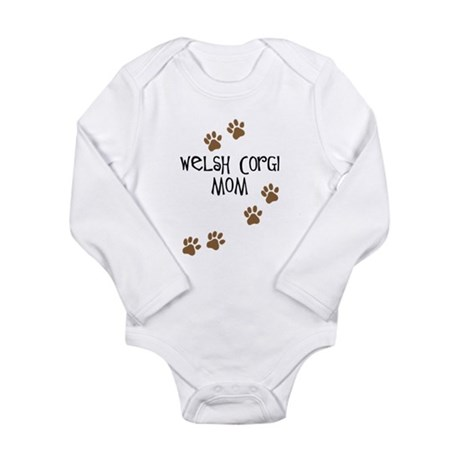 Welsh Corgi Mom Long Sleeve Infant Bodysuit