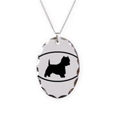 West Highland Terrier Oval Necklace