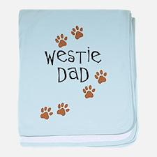 Westie Dad baby blanket