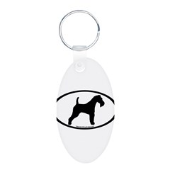Wire Fox Terrier Oval Keychains