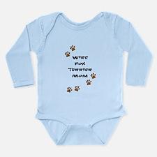 Wire Fox Terrier Mom Long Sleeve Infant Bodysuit