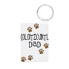 Xoloitzcuintli Dad Aluminum Photo Keychain