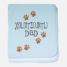 Xoloitzcuintli Dad baby blanket