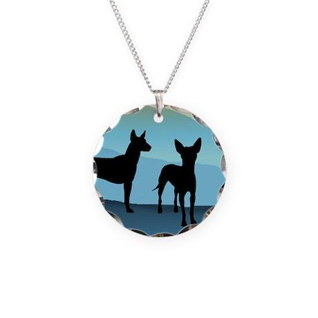 Blue Mountain Xolo Necklace Circle Charm