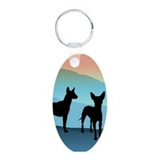 Blue Mountain Xolo Aluminum Oval Keychain