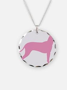 Xolo Dog Pink Profile Necklace