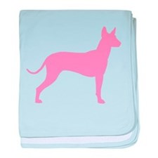 Xolo Dog Pink Profile baby blanket