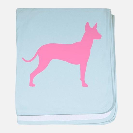 Xolo Dog Pink Profile baby blanket