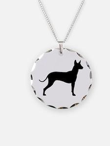 Xoloitzcuintli Profile Necklace