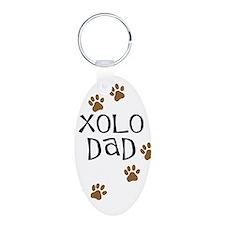 Xolo Dad Aluminum Oval Keychain