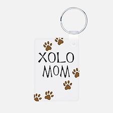 Xolo Mom Aluminum Photo Keychain