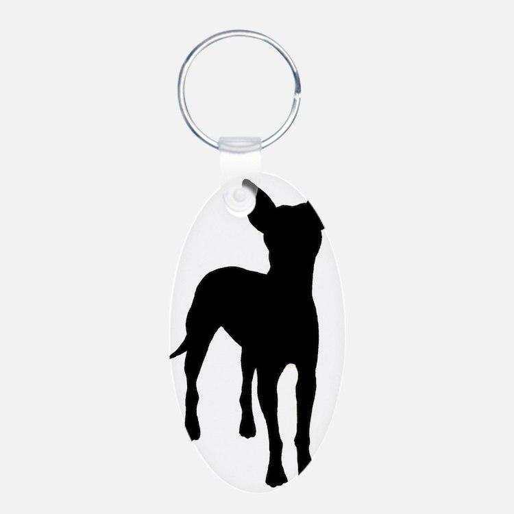 xoloitzcuintli dog Aluminum Oval Keychain
