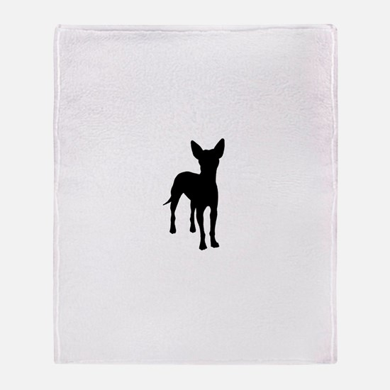 xoloitzcuintli dog Throw Blanket