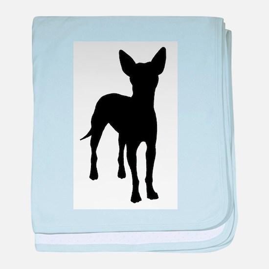 xoloitzcuintli dog baby blanket