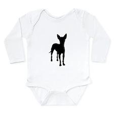 xoloitzcuintli dog Long Sleeve Infant Bodysuit