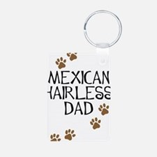 Mexican Hairless Dad Aluminum Photo Keychain