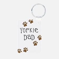 Yorkie Dad Keychains