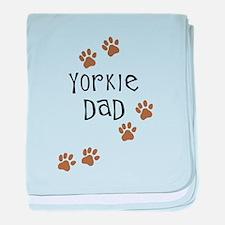 Yorkie Dad baby blanket
