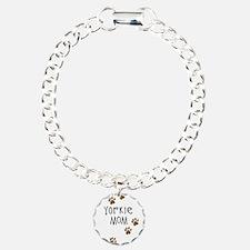Yorkie Mom Charm Bracelet, One Charm