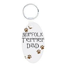 Norfolk Terrier Dad Keychains