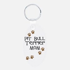 Pit Bull Terrier Mom Keychains