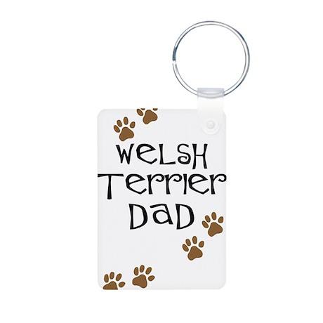 Welsh Terrier Dad Aluminum Photo Keychain