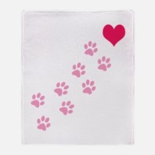 Cute Dog paw Throw Blanket