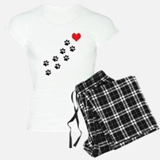 Paw Prints To My Heart pajamas
