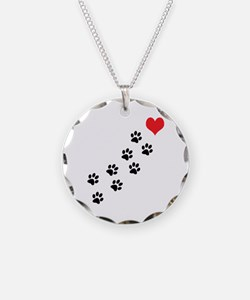 Paw Prints To My Heart Necklace