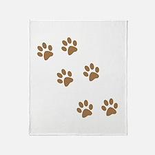 Cute Pawprint Throw Blanket