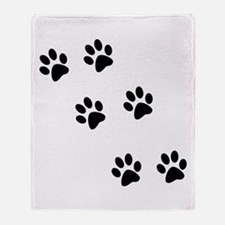 Walk-On-Me Pawprints Throw Blanket