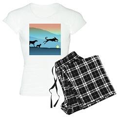 Dogs Chasing Ball Pajamas