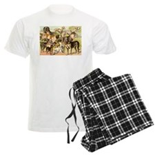 Dog Group From Antique Art Pajamas