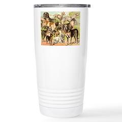 Dog Group From Antique Art Travel Mug
