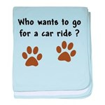 Paw Prints Dog Car Ride baby blanket