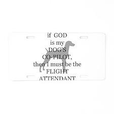 Dog Attendant Aluminum License Plate