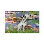 Lilies / Dalmation 35x21 Wall Decal