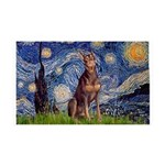 Starry / Red Doberman 35x21 Wall Decal