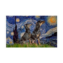 Starry Night / 2 Dobies Wall Decal