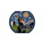 Starry Night Doberman (#1) 35x21 Wall Decal