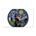 Starry Night Doberman (#1) 20x12 Wall Decal