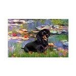 Lilies (2) & Dachshund 35x21 Wall Decal