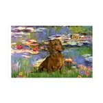 Lilies & Dachshund 35x21 Wall Decal