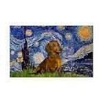 Starry / Dachshund 35x21 Wall Decal