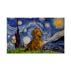 Starry / Dachshund Wall Decal