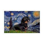 Starry Night Dachshund 35x21 Wall Decal