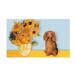 Sunflowers - Doxie (LH,S) 35x21 Wall Decal