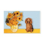 Sunflowers - Doxie (LH,S) 20x12 Wall Decal