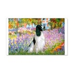 Monet's garden & Springer 20x12 Wall Decal